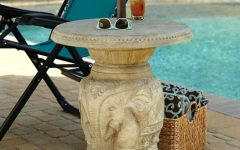 Patio Umbrella Side Tables