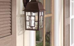 Payeur 12.25'' H Hammered Glass Outdoor Wall Lanterns
