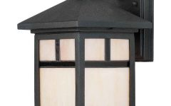 Clarisa Seeded Glass Outdoor Barn Lights with Dusk to Dawn