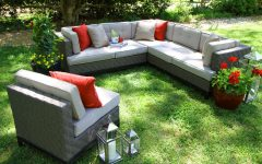 Jamarion 4 Piece Sectionals with Sunbrella Cushions