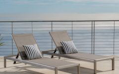 Outdoor Aluminum Adjustable Chaise Lounges