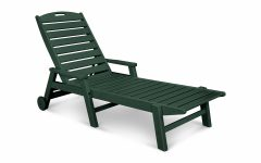 Nautical Wheeled Stackable Chaise Lounges