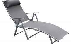 Steel Sling Fabric Outdoor Folding Chaise Lounges