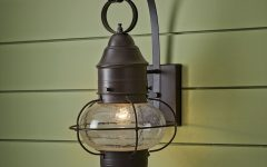 Anner 18'' H Seeded Glass Outdoor Wall Lanterns
