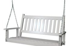 2-person White Wood Outdoor Swings