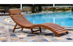 Curved Folding Chaise Loungers