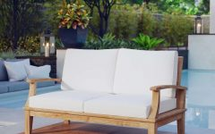 Elaina Teak Loveseats with Cushions