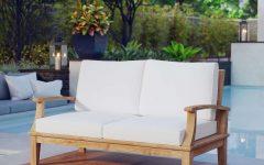 Elaina Teak Loveseats with Cushions