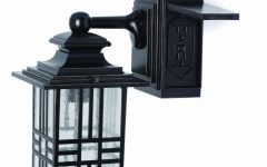 Outdoor Wall Lights with Electrical Outlet