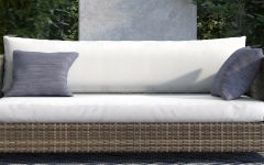 Oceanside Outdoor Wicker Loveseats With Cushions