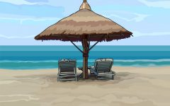Seaside Beach Umbrellas