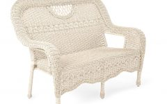 Prospect Hill Wicker Settee Benches