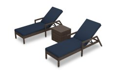 Outdoor 3-piece Chaise Lounger Sets with Table