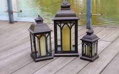 Set Of 3 Outdoor Lanterns