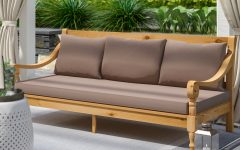 Roush Teak Patio Daybeds With Cushions