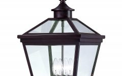 Outdoor Hanging Glass Lanterns