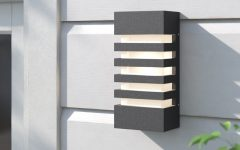 Vernie Black 9.75'' H Integrated Led Outdoor Bulkhead Lights