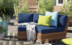 Waterbury Curved Armless Sofa with Cushions