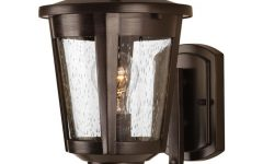 Chelston 12'' H Seeded Glass Outdoor Wall Lanterns