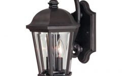 Faunce 12'' H Beveled Glass Outdoor Wall Lanterns