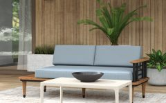 Clary Teak Lounge Patio Daybeds With Cushion