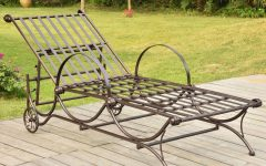 Multi-position Iron Chaise Lounges