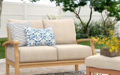 Summerton Teak Loveseats with Cushions