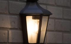 Half Lantern Outside Wall Lights