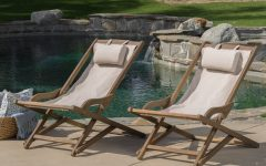 Outdoor Wood Sling Chairs